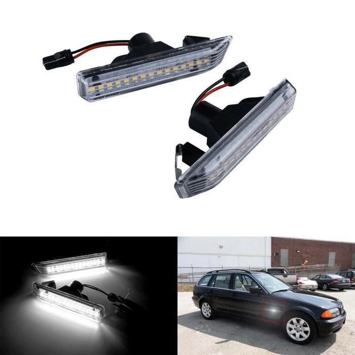 NEUFU 2X LED Clignotant Panneau Feux de position Latéraux pour BMW X5 E53 00-06 3 séries E36 cabriolet 1