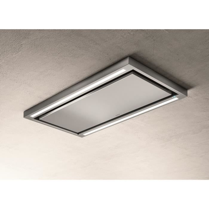 ELICA PRF0142094 - Hotte de plafond Cloud seven IX / A / 90 - Extraction ou filtr - 760 m³ air / h max - 3 vitesses - L 90 cm - Inox