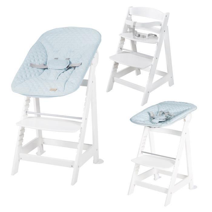 ROBA -Born Up- Chaise haute évolutive 2 en 1 -roba Style- bleu clair, dès la naissance