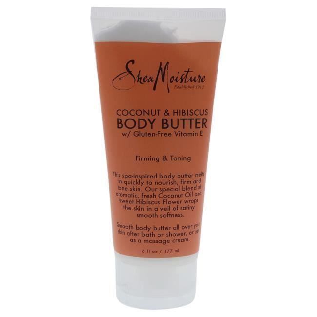 Shea Moisture Hydratant Beurre corporel à la noix de coco et à l'hibiscus raffer-Mixte