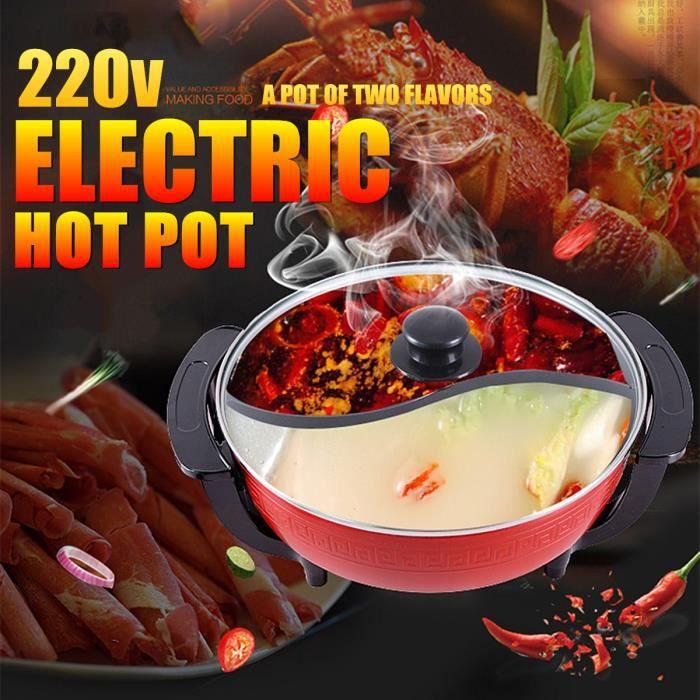 TEMPSA 6L 2en1 Appareil à Fondue Électrique 1800W 220V avec Thermostat Diviseur Antiadhésif Party Fête Maison Cuisine
