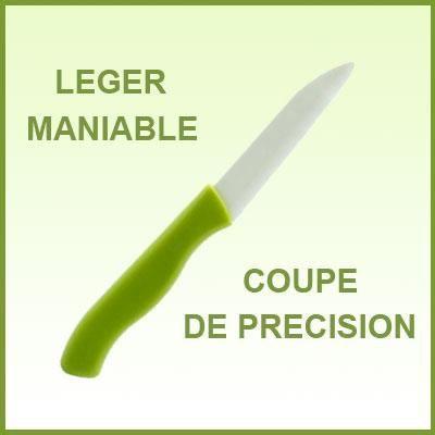 Couteau en céramique - Lame blanche 7,5 cm