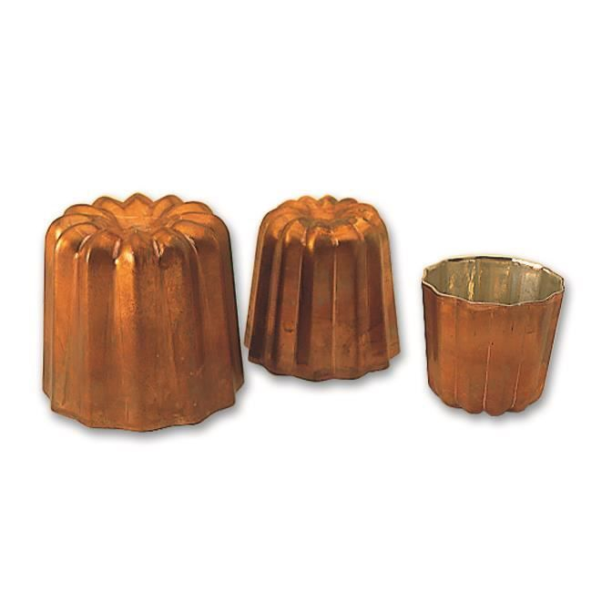 Moule cannelé cuivre professionnel à 35 mm de d...