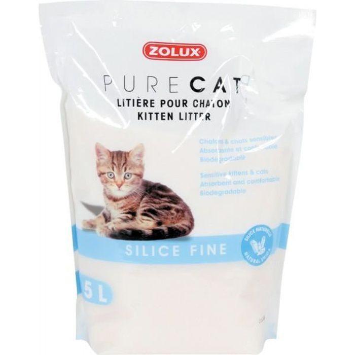Litière Fine Pure Cat Silice Nature 5l