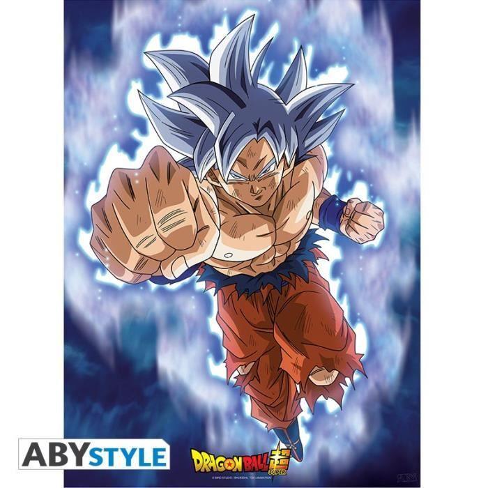 Dragon Ball Super Poster Goku Ultra Instinct 52x38 Achat Vente Affiche Poster Cdiscount