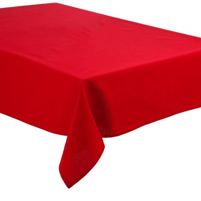 nappe anti taches coton 140 x 240 cm rouge achat vente nappe de table cdiscount. Black Bedroom Furniture Sets. Home Design Ideas