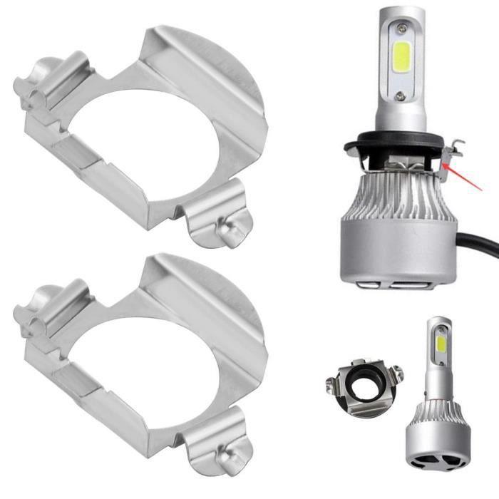 lot H7 Adaptateurs LED Porte Ampoule pour feux led H7 2pcs