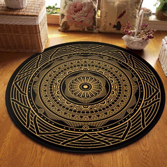 Tapis Ethnique Rond 60cm Tapis Berbere Motif Stramonium Tapis Geometrique Pour Chambre Salon Dz16 2 Achat Vente Tapis Cdiscount