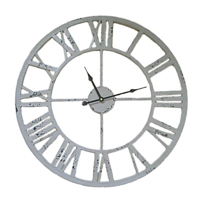 horloge neuve fer forg gris pendule murale achat vente horloge cdiscount. Black Bedroom Furniture Sets. Home Design Ideas