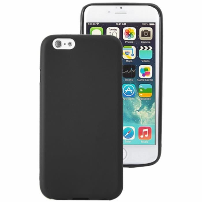 coque noir iphone 6 silicone
