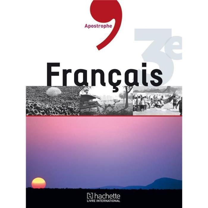 Livre Francais 3e Manuel De L Eleve
