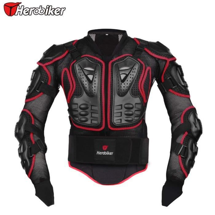 rouge veste de moto moto armure protectrice protection du corps moto armure achat vente. Black Bedroom Furniture Sets. Home Design Ideas