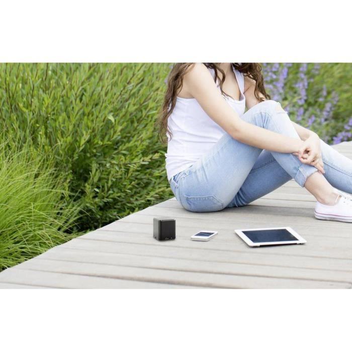 ENCEINTE NOMADE Enceinte Bluetooth BlackCube1 fonction mains libre