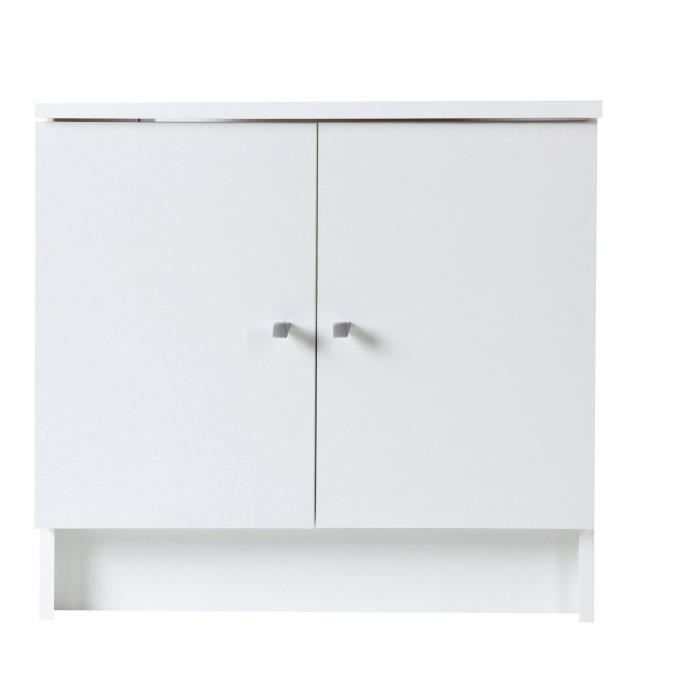 slash meuble sous lavabo 60 cm d cor blanc achat vente meuble vasque plan slash meuble. Black Bedroom Furniture Sets. Home Design Ideas