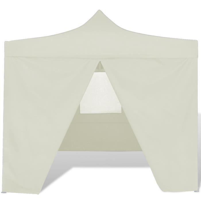 TENTE DE CAMPING Tente pliable couleur crème avec 4 parois