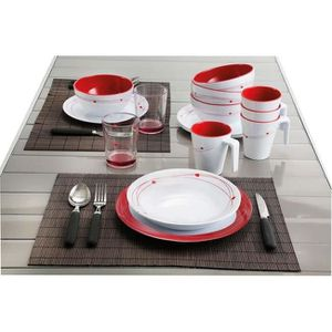 service de table en melamine pour camping. Black Bedroom Furniture Sets. Home Design Ideas