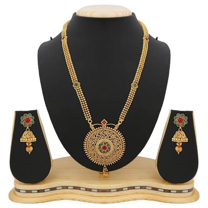Womens Gold Plated Copper Jewellery Set ForSWCYA
