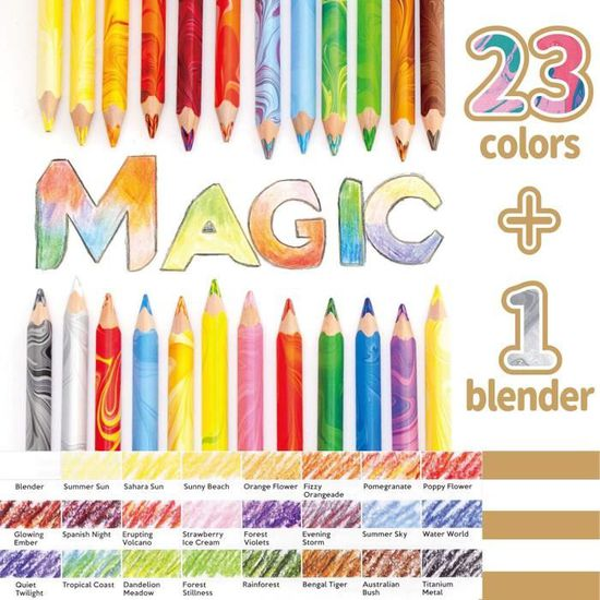 NEUF 3408 Koh-I-NOOR MAGIC Lot De 6 Multicolore Jumbo Crayons