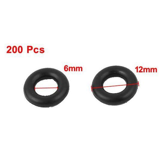 sourcing map Universal O-Ring Joint en Caoutchouc Noir rondelles rondelles 8mm x 2mm 200pcs