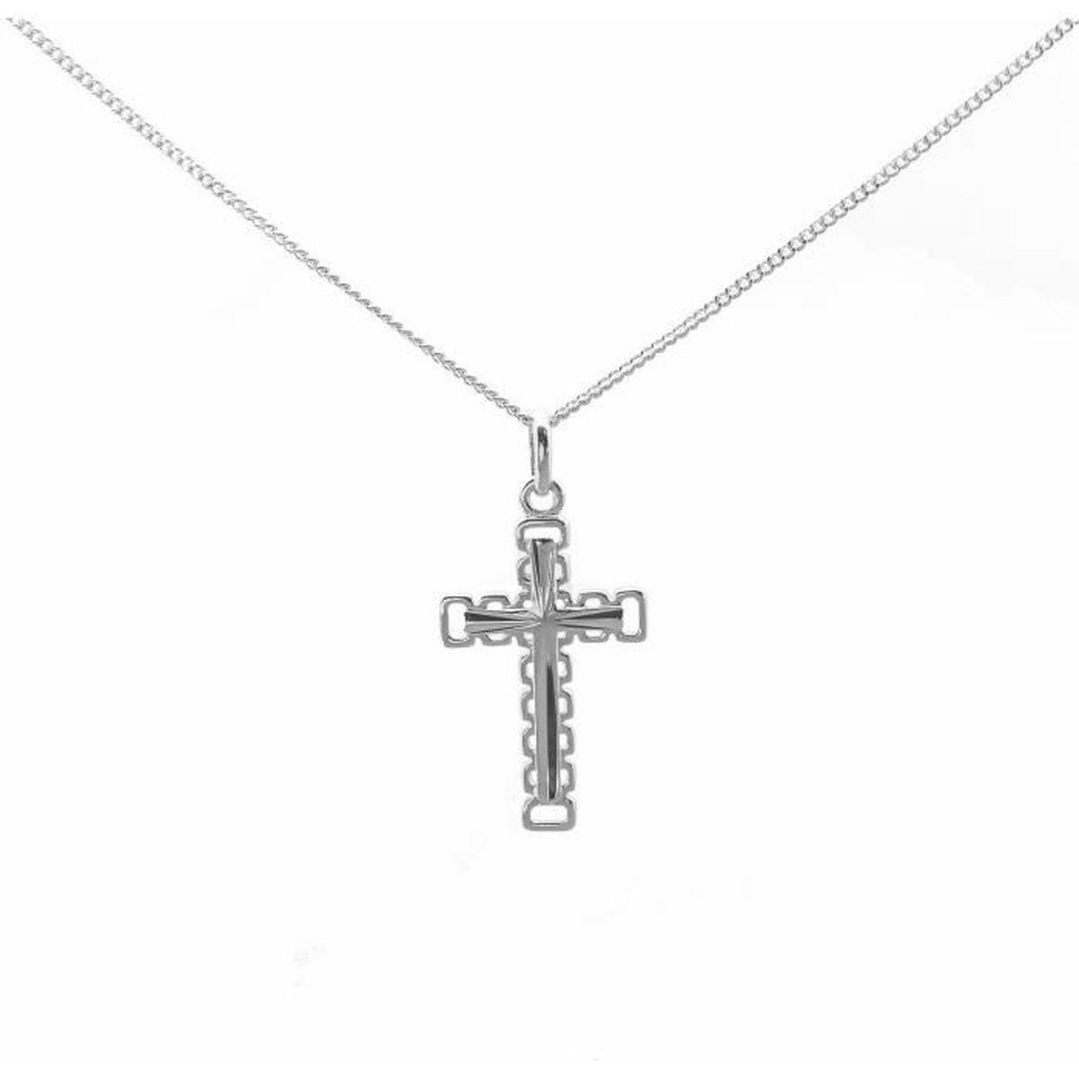 SAUTOIR ET COLLIER Croix en Argent Massif 925 avec gravure personnali