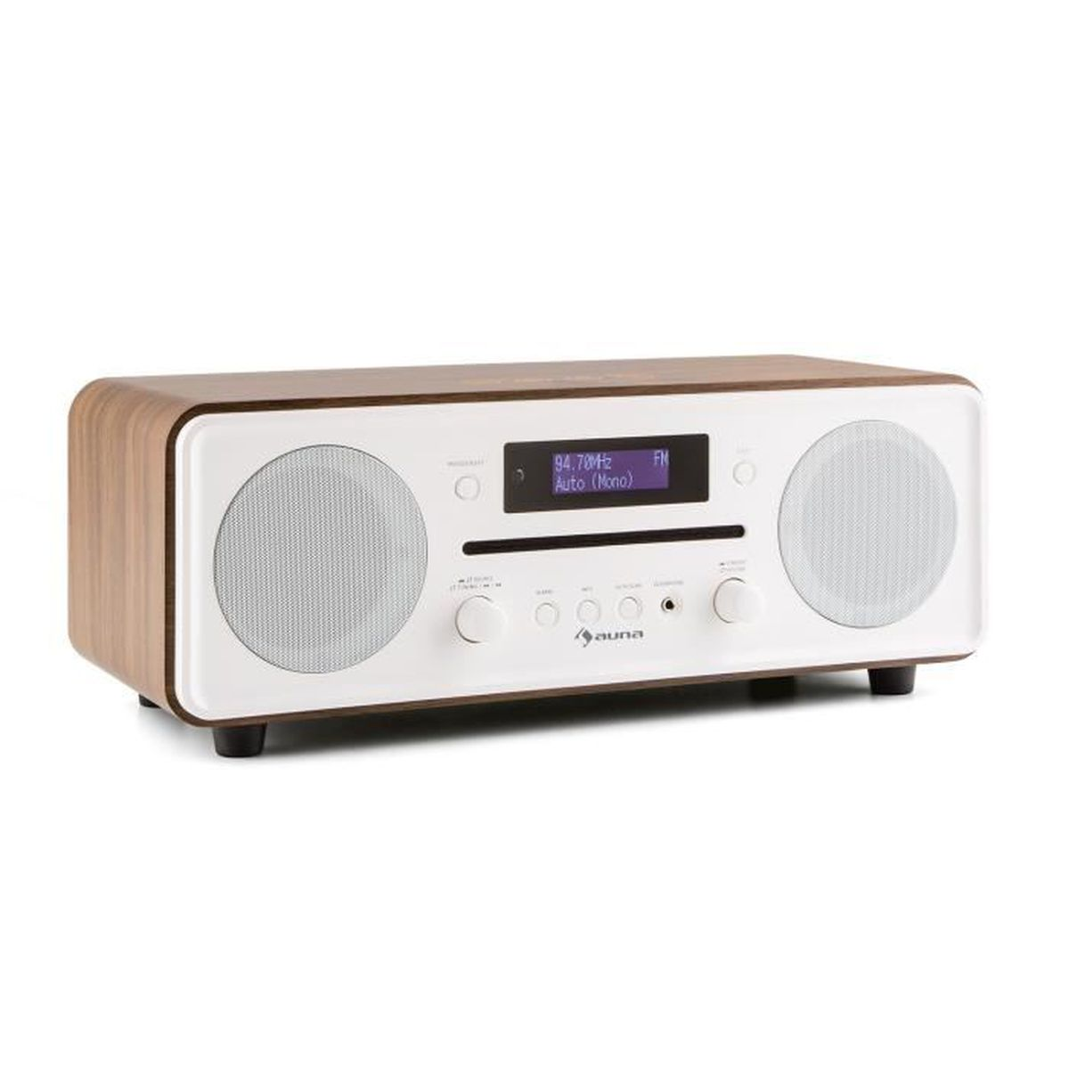 auna melodia radio num rique bluetooth avec lecteur cd. Black Bedroom Furniture Sets. Home Design Ideas