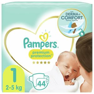 COUCHE PAMPERS New Baby Taille 1 - 2 à 5Kg - 44 couches