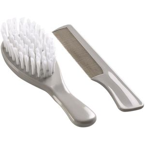 THERMOBABY Lot Brosse et Peigne Gris