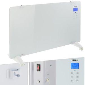 RADIATEUR D'APPOINT Arebos Convecteur en verre radiateur portable mura