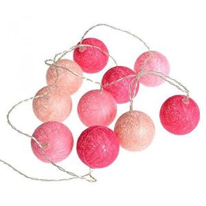 GUIRLANDE LUMINEUSE INT Guirlande lumineuse 10 boules LED - Coloris ROSE