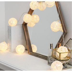 GUIRLANDE LUMINEUSE INT Blanc en Dentelle Boule lumières – Corde – LED Bla
