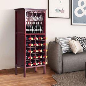 MEUBLE RANGE BOUTEILLE Étagère à Vin Support Bouteille Casier à Vin en Bo