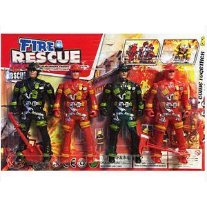 5 Figurines Des Marins Pompiers de Marseille BMPM Avec Accessoires 1//43