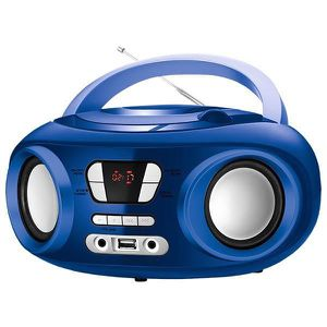 CHAINE HI-FI Radio hifi CD Bluetooth MP3 USB bleu - Enceinte ha