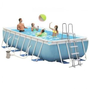 PISCINE INTEX Kit Piscine rectangulaire tubulaire L4,88 x