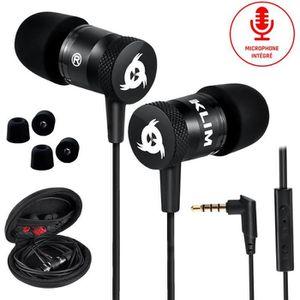 CASQUE - ÉCOUTEURS KLIM Fusion Écouteurs Haute Qualité Audio - Garant