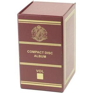 BOITE DE RANGEMENT Boîte de rangement pour CD - Bordeaux