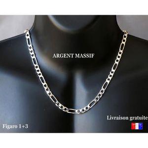 CHAINE DE COU SEULE Belle Grosse chaine pour homme en argent massif 92