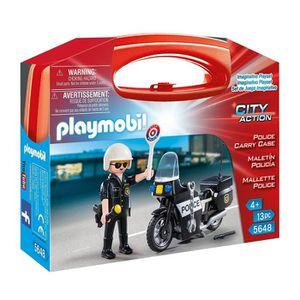 UNIVERS MINIATURE Playmobil Play Mobil - 5648 - Valisette Police