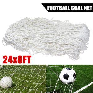 CAGE DE FOOTBALL 7.3x2.4m Filet de Football Buts en Polypropylène H