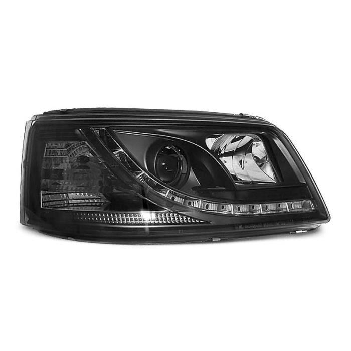 Paire de feux phares VW T5 03-09 Daylight led noir (W38)