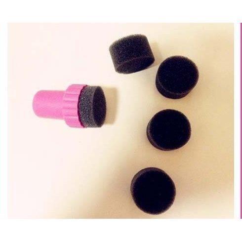 Tampon + 5 éponges pour dégradé décoration ongle