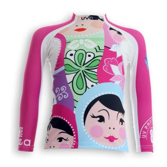 UVEA Teeshirt rashguard anti UV 80+ maillot manches longues INDIANA - Taille 2/4 ans - Imprimé polska