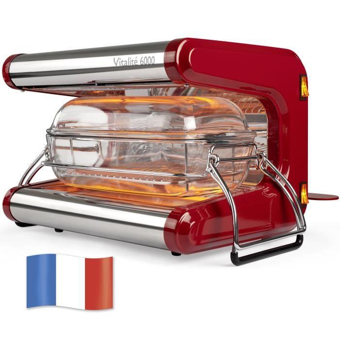 Omnicuiseur Vitalité 6000 cocotte de 1 à 6 personnes Rouge rubis - Appareil de cuisson basse température - Four vitalité