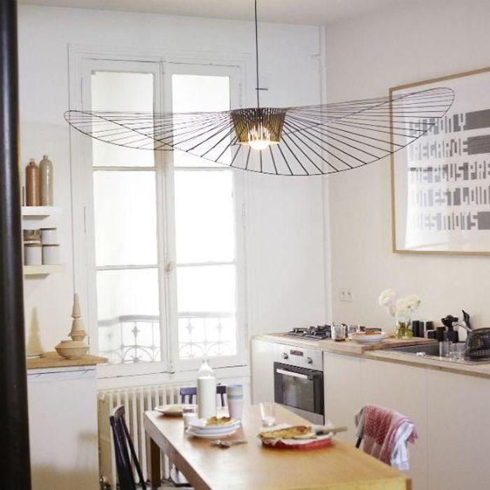 VERTIGO-Suspension Ø140cm cuivre rosace et câble noir Petite Friture - designé par Constance Guisset