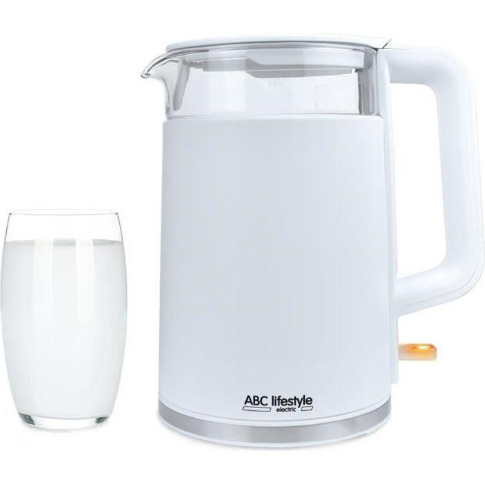 Bouilloire Électrique,1,7L,2200W,Ébullition Rapide (100 seconds) sans BPA,Filtre Lavable.Protection Thermique. Arrêt Automatique