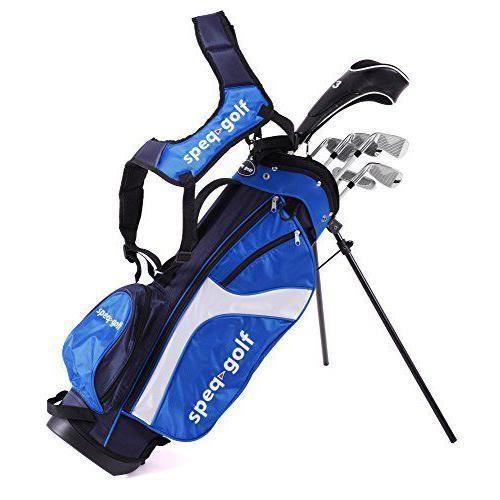 Speq Demi-série de golf droitier pour enfant avec sac Vert Bleu Bleu/blanc 1.15 - 1.30 m - SQ-1390-3_1.15 - 1.30 m