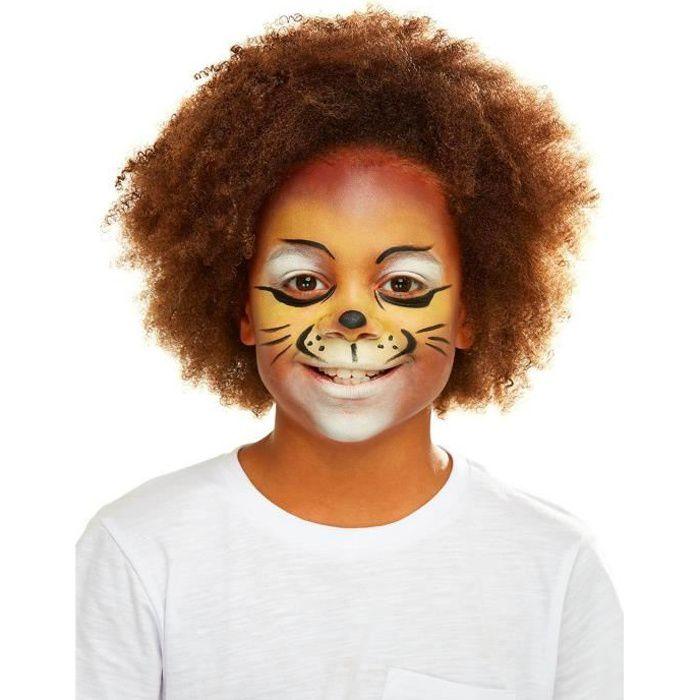 Kit maquillage et accessoires lion enfant - Orange