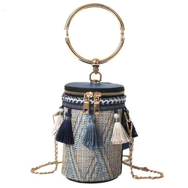 Boisson tasse forme Mini sac à bandoulière femmes unique intérieur poche fermeture éclair sac personnalité utiliser pail ES10929