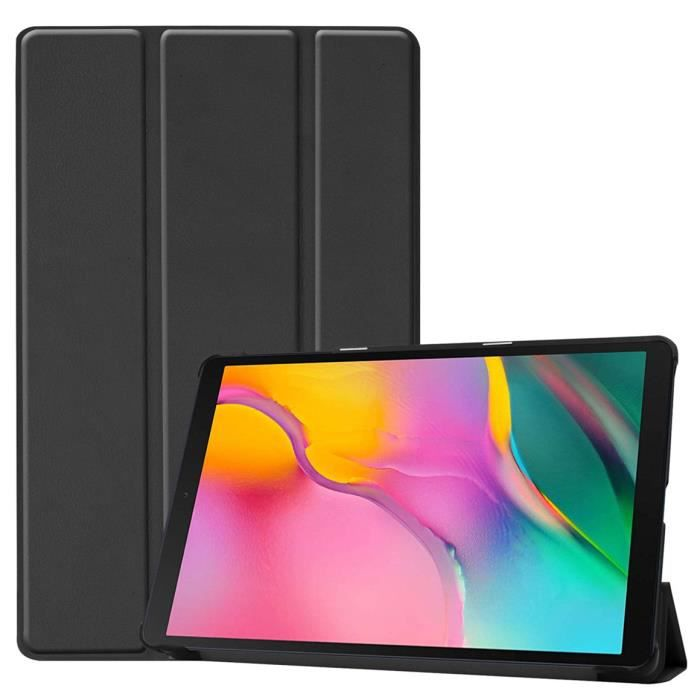 Coque tablette Samsung Galaxy Tab A 10.1 2019 Tablette manchon de protection stent Galaxy Tab T510 T515 Noir