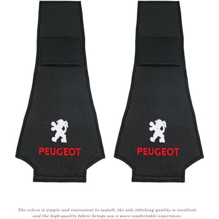 Auto,Housses de siège et appui-tête Auto RCZ, couvre-siège, 2 pièces, pour Peugeot 206 308 307 207 208 3008 407 - Type Peugeot 2pcs